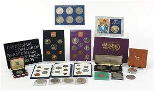 British and world coinage, some proof including