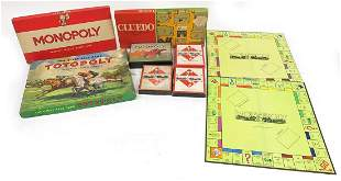Vintage board games comprising Cluedo, Monopoly and