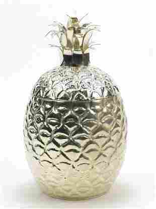 Art Deco design silver plated ice bucket in the form of