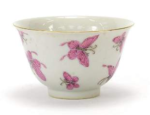 Good Chinese porcelain bowl finely hand painted in pink