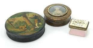 18th century Bilston enamel patch box inscribed with