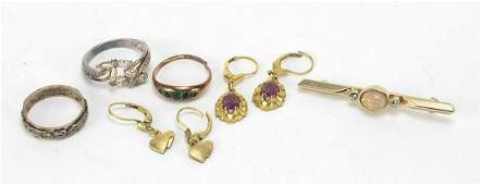 Antique and later jewellery including a 9ct gold and