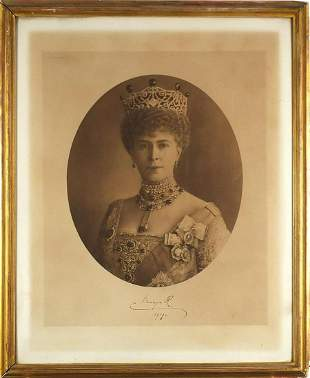 Early 20th century signed black and white photograph of
