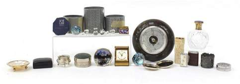 Antique and later objects including Swarovski crystal,