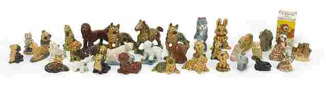 Collection of Wade Whimsies including Disney animals,