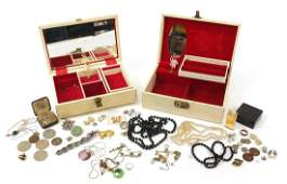 Vintage and later costume jewellery including 9ct gold