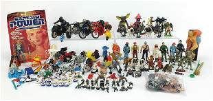 Collection of vintage and later toys including