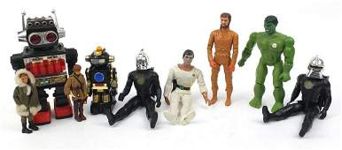 Vintage 1970's and later action figures and robots