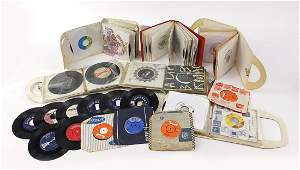 45rpm records arranged in albums including promos, The