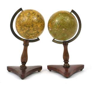 Wrench's of London, pair of 19th century celestial and