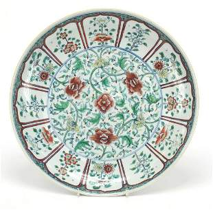 Chinese doucai porcelain plate finely hand painted with