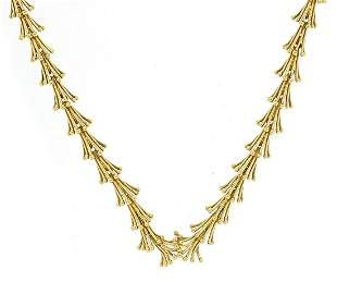 John Donald, Modernist 18ct gold necklace housed in a