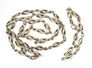 Mappin & Webb Modernist silver necklace and bracelet