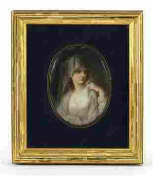 19th century naval interest oval porcelain plaque hand