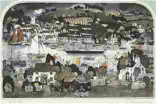 Graham Clarke - A-Rovin, pencil signed etching in