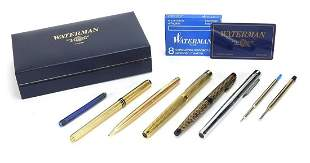 Vintage fountain pens and pen & pencil including gold