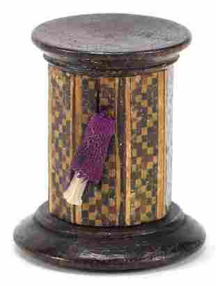 Victorian sewing interest Tunbridge Ware rosewood