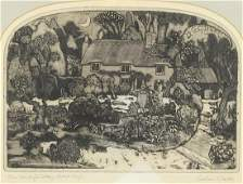 Graham Clarke - Thos. Hardy's cottage, pencil signed