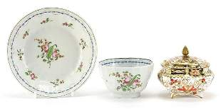 18th century porcelain tea bowl with saucer and a Royal