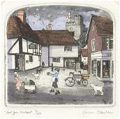Graham Clarke - For you Madame, pencil signed etching