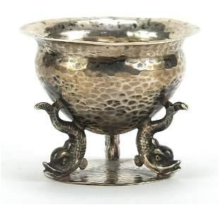 Josiah Williams & Co, Arts & Crafts silver table salt