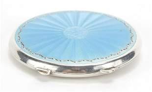 Joseph Gloster Ltd, unmarked silver and guilloche