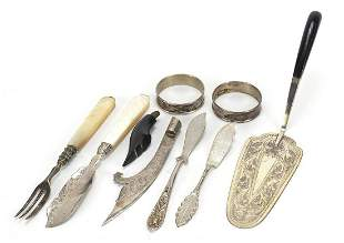 Antique and later silver and white metal objects