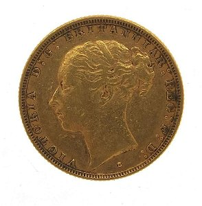 Victoria Young Head 1882 gold sovereign