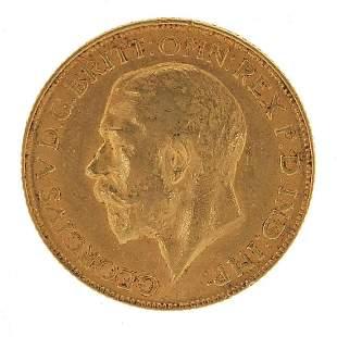 George V 1911 gold sovereign
