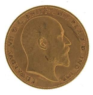 Edward VII 1909 gold half sovereign