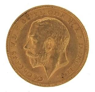George V 1911 gold half sovereign