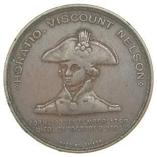 19th century bronze medallion commemorating Lord