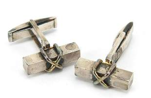 Tiffany & Co, pair of sterling silver and 18ct gold