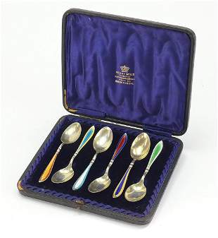 Barker Brothers Silver Ltd, set of six silver and