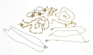 Vintage and later jewellery including a 9ct gold