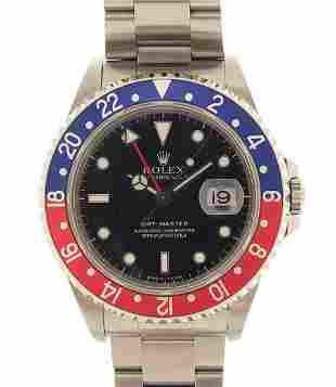 Rolex, gentlemen's GMT Master automatic wristwatch with