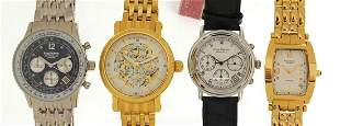 Four gentlemen's Krug-Baumen wristwatches with boxes,