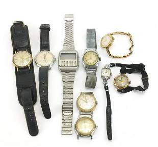 Vintage and later ladies and gentlemen's wristwatches