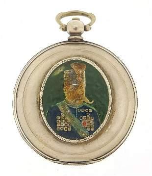Antique Ottoman full hunter pocket watch by K Serkisoff