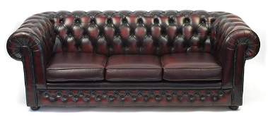 Thomas Lloyd, Chesterfield sofa bed with ox blood