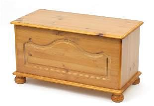 Pine Ottoman blanket box, 46cm H x 83cm W x 42cm D