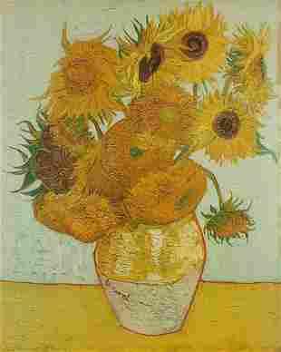 After Vincent Van Gogh - Sunflowers, vintage Franz