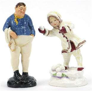 Two collectable figurines comprising Royal Doulton Fat