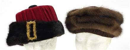Two ladies fur hats including one by Christian Dior and