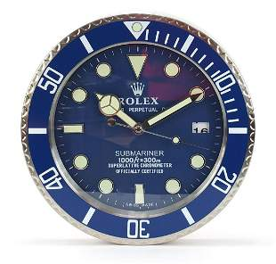 Rolex Submariner design dealer's display wall clock,