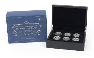 2015 five pound silver proof six coin set from the The