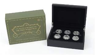 2014 five pound silver proof six coin set from the The