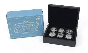 2018 five pound silver proof six coin set from the The