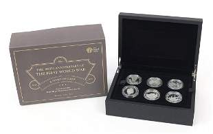 2016 five pound silver proof six coin set from the The