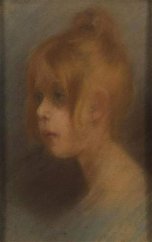 Portrait of a young girl, 19th century French school